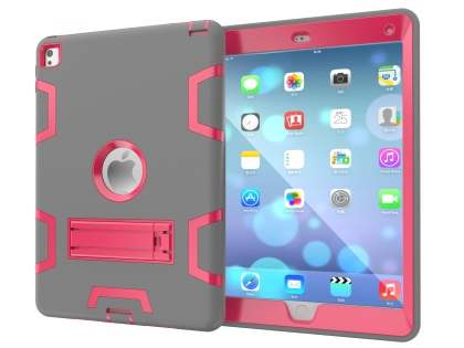 Impact Case with Stand for iPad Pro 9.7 - Grey/Pink Impact Case