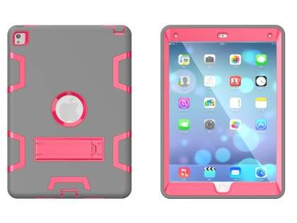 Impact Case with Stand for iPad Pro 9.7 - Grey/Pink
