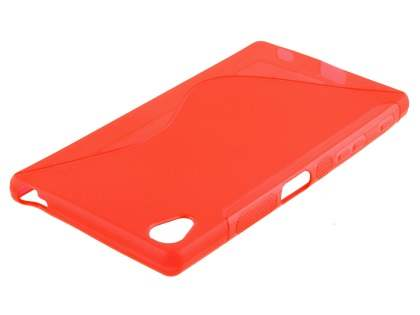 Wave Case for Sony Xperia Z5 Premium - Frosted Red/Red