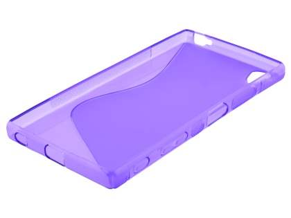 Wave Case for Sony Xperia Z5 Premium - Frosted Purple/Purple