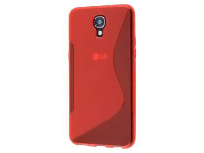 Telstra Signature Enhanced Wave Case - Frosted Red/Red Soft Cover