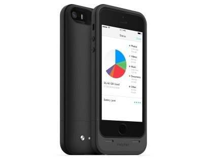 mophie space pack Battery Case with 32GB Storage for iPhone SE/5s/5 - Classic Black Case Battery