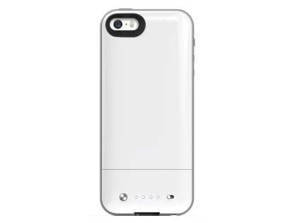 mophie space pack Battery Case with 32GB Storage for iPhone SE/5s/5 - White/Silver