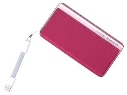 MOMAX iPower Elite+ 8000mAh Slim Rechargeable Battery Pack - Pink