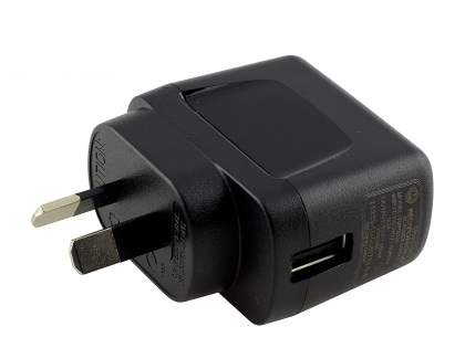 Genuine Motorola Wall Power Adapter with USB Port - Classic Black AC Wall Charger