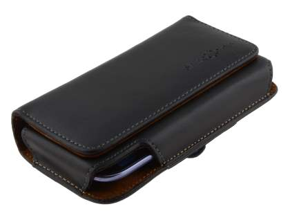Extra-tough Genuine Leather ShineColours belt pouch for Microsoft Lumia 650