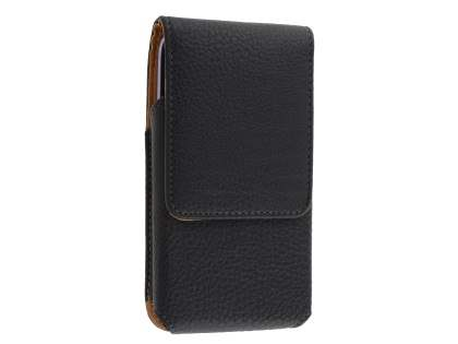 Textured Synthetic Leather Vertical Belt Pouch for Telstra Signature Enhanced