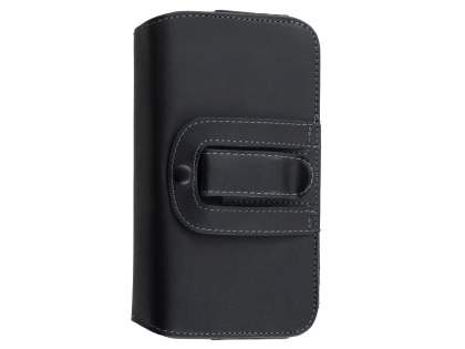 Extra-tough Genuine Leather ShineColours belt pouch for LG Stylus DAB+