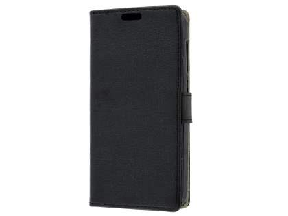 Slim Synthetic Leather Wallet Case with Stand for Huawei Y3II - Classic Black