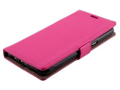 Telstra Signature Enhanced Slim Synthetic Leather Wallet Case with Stand - Pink