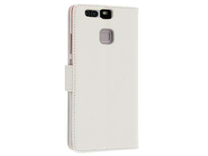Synthetic Leather Wallet Case with Stand for Huawei P9 - Pearl White