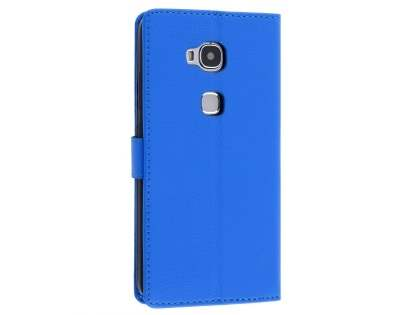 Synthetic Leather Wallet Case with Stand for Huawei GR5 - Blue Leather Wallet Case