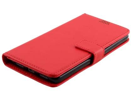 Synthetic Leather Wallet Case with Stand for Huawei GR5 - Red