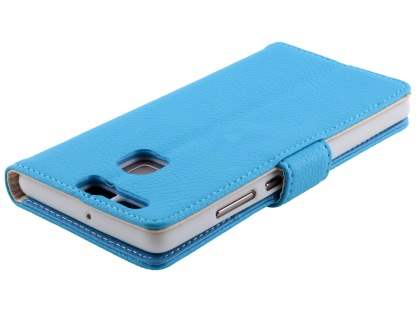 Synthetic Leather Wallet Case with Stand for Huawei P9 - Sky Blue
