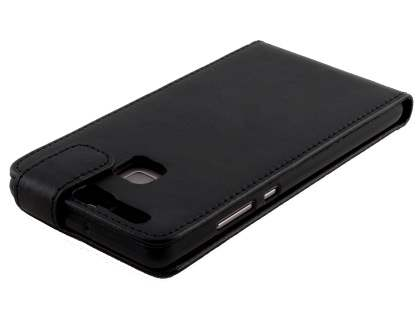 Synthetic Leather Flip Case for Huawei P9 - Black