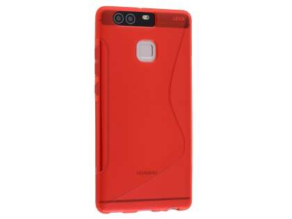 Wave Case for Huawei P9 - Frosted Red/Red Soft Cover