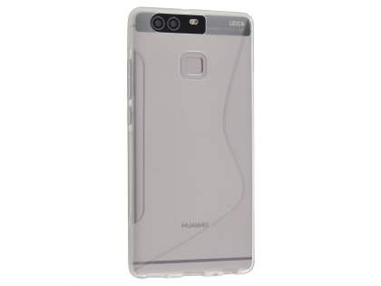 Wave Case for Huawei P9 - Frosted Clear/Clear Soft Cover
