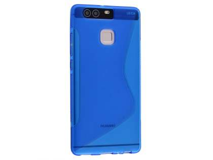 Wave Case for Huawei P9 - Frosted Blue/Blue Soft Cover