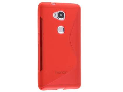 Wave Case for Huawei GR5 - Frosted Red/Red Soft Cover