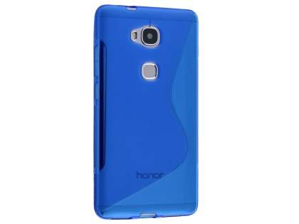 Wave Case for Huawei GR5 - Frosted Blue/Blue Soft Cover