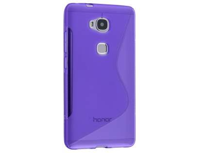 Wave Case for Huawei GR5 - Frosted Purple/Purple Soft Cover