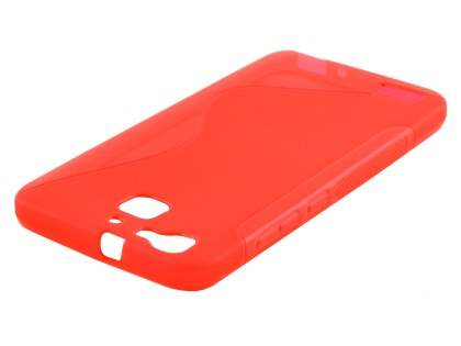 Wave Case for Huawei GR3 - Frosted Red/Red Soft Cover