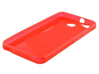Wave Case for Huawei GR3 - Frosted Red/Red