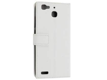 Slim Synthetic Leather Wallet Case with Stand for Huawei GR3 - Pearl White Leather Wallet Case