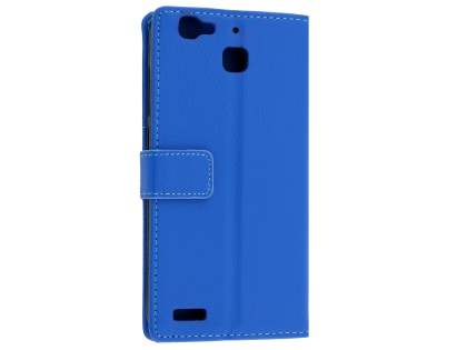 Slim Synthetic Leather Wallet Case with Stand for Huawei GR3 - Blue Leather Wallet Case