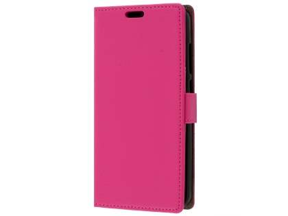 Slim Synthetic Leather Wallet Case with Stand for Huawei GR3 - Pink