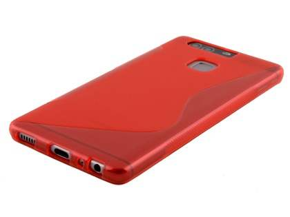 Wave Case for Huawei P9 - Frosted Red/Red