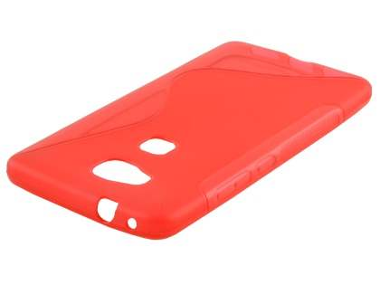 Wave Case for Huawei GR5 - Frosted Red/Red