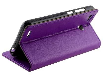 Slim Synthetic Leather Wallet Case with Stand for Huawei GR3 - Purple