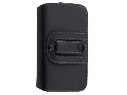 Extra-tough Genuine Leather ShineColours belt pouch (Bumper Case Compatible) for Huawei GR3