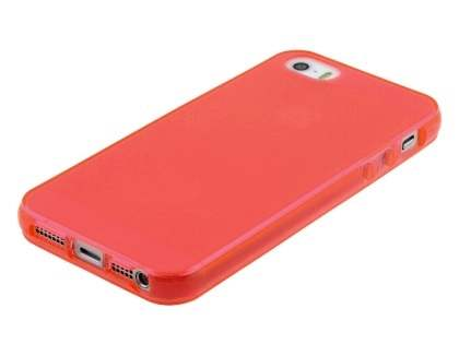 Apple iPhone SE/5s/5 Frosted TPU Gel Case - Frosted Red