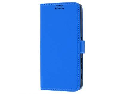 Slim Synthetic Leather Wallet Case with Stand for Sony Xperia XA - Blue