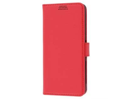 Slim Synthetic Leather Wallet Case with Stand for Sony Xperia XA - Red