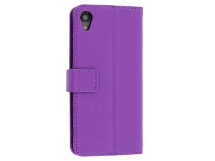 Slim Synthetic Leather Wallet Case with Stand for Sony Xperia X Performance - Purple Leather Wallet Case