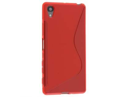 Wave Case for Sony Xperia X - Frosted Red/Red Soft Cover
