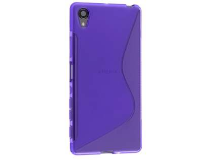 Wave Case for Sony Xperia X - Frosted Purple/Purple Soft Cover