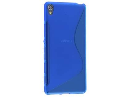 Wave Case for Sony Xperia XA - Frosted Blue/Blue Soft Cover