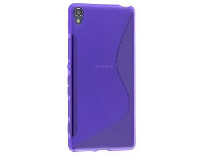Wave Case for Sony Xperia XA - Frosted Purple/Purple Soft Cover