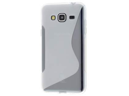 Wave Case for Samsung Galaxy J3 (2016) - Frosted Clear/Clear Soft Cover
