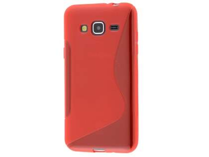 Wave Case for Samsung Galaxy J3 (2016) - Frosted Red/Red