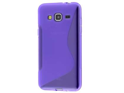 Wave Case for Samsung Galaxy J3 (2016) - Frosted Purple/Purple Soft Cover