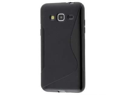 Wave Case for Samsung Galaxy J3 (2016) - Frosted Black/Black Soft Cover