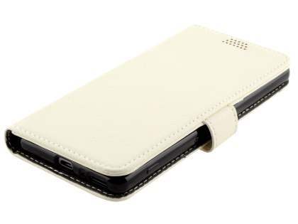 Slim Synthetic Leather Wallet Case with Stand for Sony Xperia XA - Pearl White