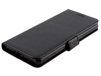 Slim Synthetic Leather Wallet Case with Stand for Sony Xperia X Performance - Classic Black
