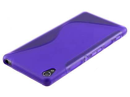 Wave Case for Sony Xperia XA - Frosted Purple/Purple