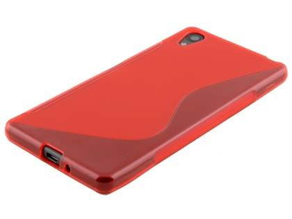 Wave Case for Sony Xperia X - Frosted Red/Red